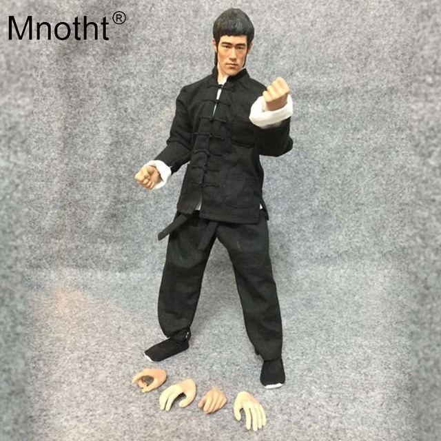 Mnotht 1/6 Scale The Big Boss Bruce Lee Black Uniforms Suit For 12in Musale Male Body Model Toys Action Figure Collection toy m3