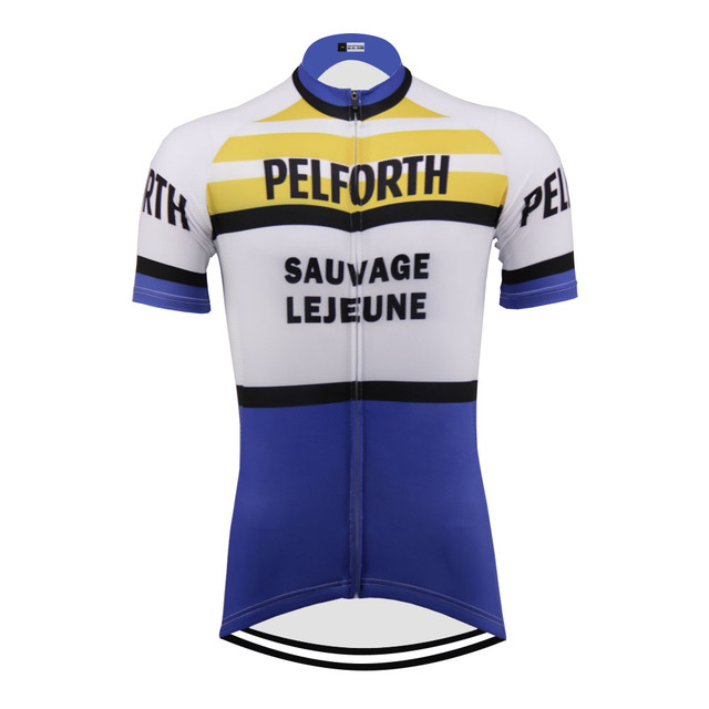 Classical Retro NEW short sleeve Cycling jersey pro road RACE Team men bicycle clothes Breathable Customized