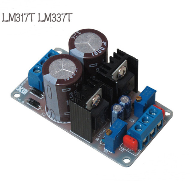 1pcs LM317T LM337T positive negative dual power adjustable power supply board linear power supply module