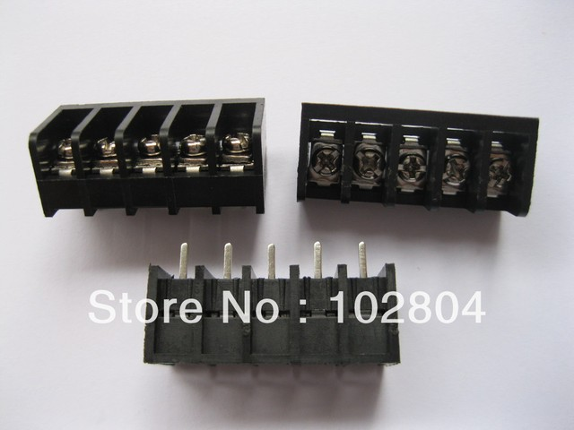 12 Pcs 5way/pin Pitch 8.25mm Barrier Type Black Color Screw Terminal Block Connector DC39B HOT Sale HIGH Quality