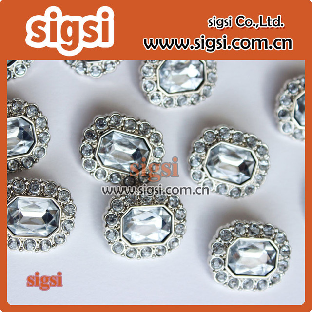 Wholesale Decorative clear crystal Acrylic Rhinestone Button