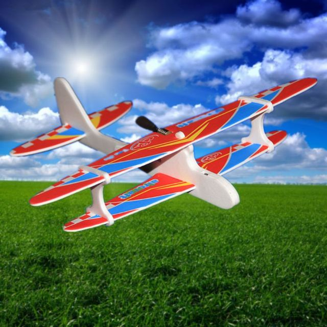 Hot Electric Hand Throw Flying Glider Plane Toys Flying In The Sky For Long Time Foam Aeroplane Model Outdoor Sports JUN-24