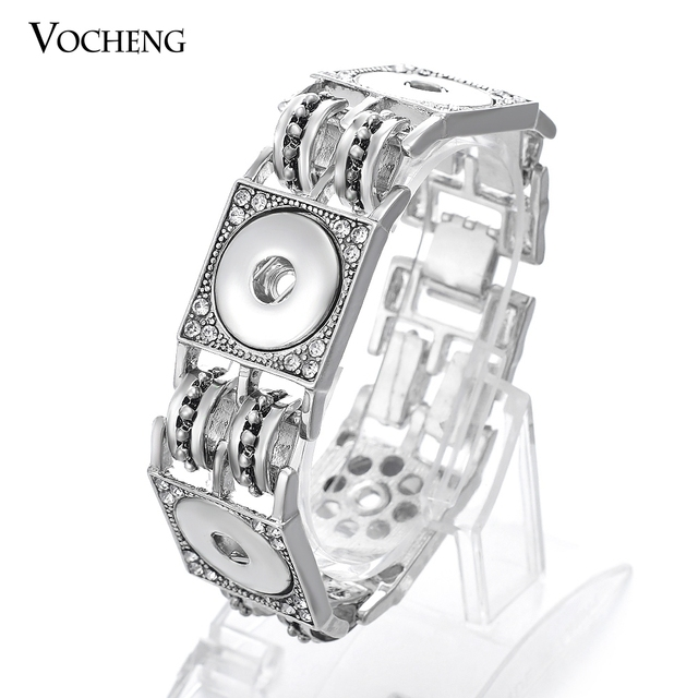 Vocheng Ginger Snap Button Jewelry Interchangeable Bangle 18mm Snap Button Charms Bracelet Vb-074