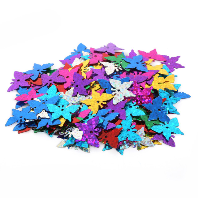 High Quality Mixed Color different size (200-450PCS) Loose Sequin for Clothing Accessory DIY Craft For Scrapbooking Wedding