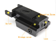 1Set Tactical Red Dot Mini Red Laser Sight With Tail Switch Scope for Gun Rifle Pistol with Lengthen Rat Tail Hunting Optics