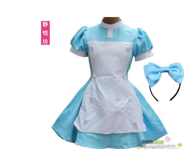 Love Live! Minami Kotori maid clothes dress Cosplay Costume Maid Lolita Apron Dress halloween party