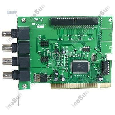 4 Channel DVR PCI Video Capture Card For Security CCTV, 4 Cams Video Inputs