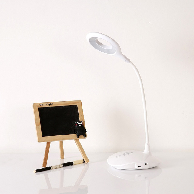 Modern LED Desk Lamps Eye Protection Touch Switch Table Lamp USB Rechargeable Night Light Student Book Reading Study Lamp
