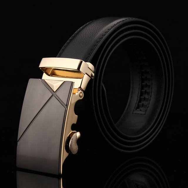Genuine Cowskin Leather Belt All-match Black Wrinkly Metal Buckle Belt Soft Material Cow Real Luxury Leather Waist Belt