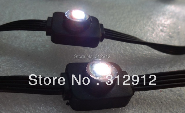 DC5V LPD6803  IC controlled LED pixel node,addressable;IP66,50pcs a string;one  piece 5050 SMD RGB LED,0.24W