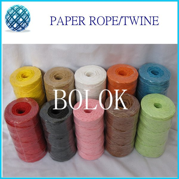 12pcs/lot 2mm*100yards/pc paper twist ribbon,Multi Raffia Paper Rope For Decorations DIY Colorful Paper String Gift Wrapping