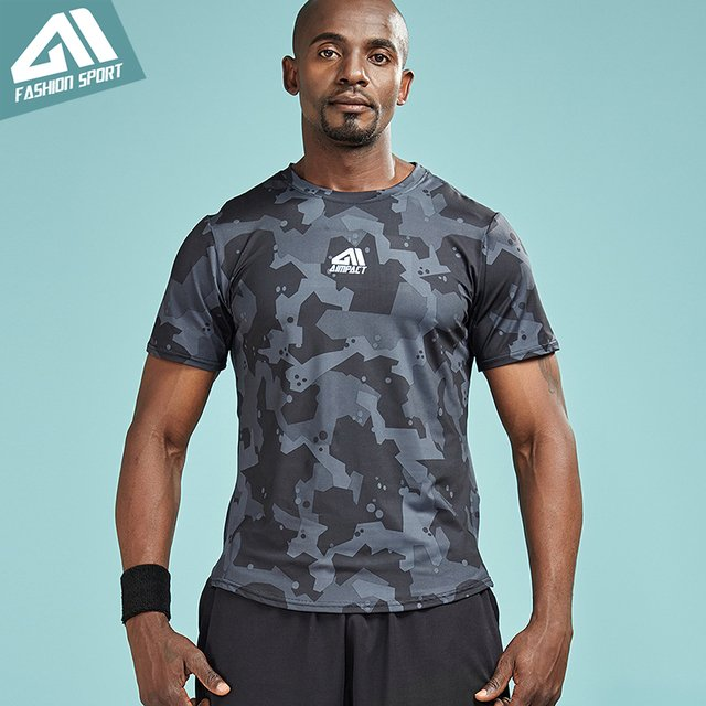 Aimpact 2018 New Men's T-shirt Man Bodybuilding Crossfit Gym Athletic t Shirts Sport Brand Clothing Running Fitted Shirt AM1058