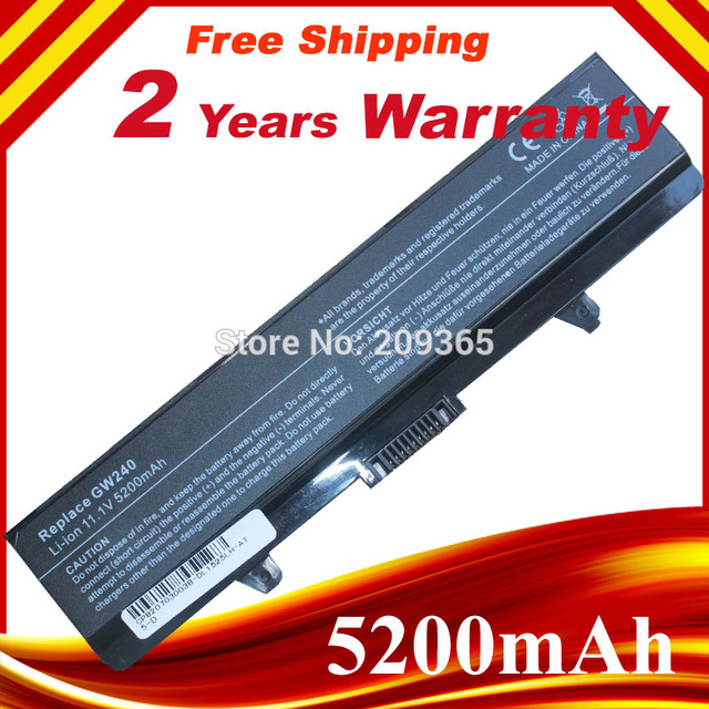 Replacement Laptop Battery for Dell Inspiron 1440 1525 1526 1545 1546 1750 J399N CR693 G555N GW240 K450N D608H, Free Shipping