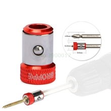 """2019 New Magnetic Ring 1/4"""" 6.35mm Metal Strong Magnetizer Screw Electric Phillips Screwdriver Bits"""