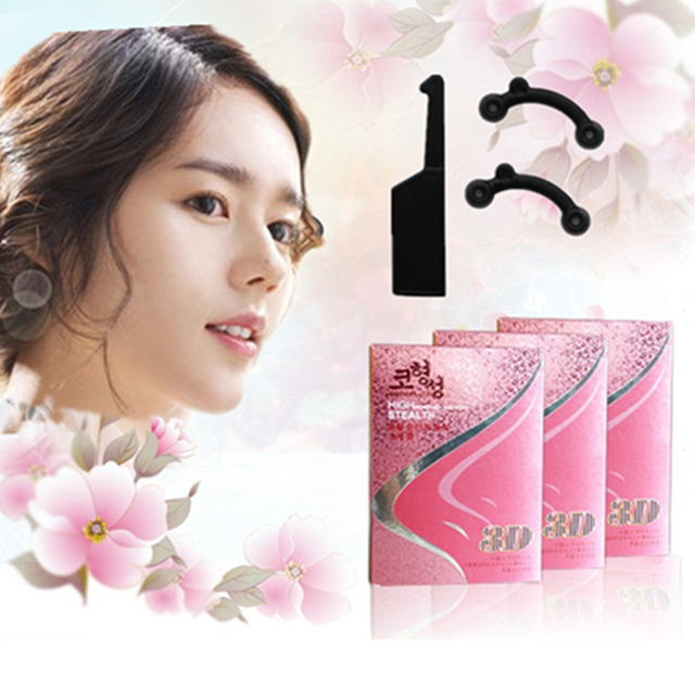 1boxes 2017New on Market Magic Beauty Tools for Nose Upright Effective 3D Nose Lifter Silicone Nose Shaping Clip