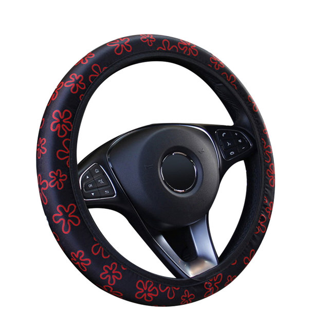15 Inch Cars Decoration Steering Wheel Wrap Universal Breathe Freely Dish Sets Durable Auto Steering Wheel Covers Accessories