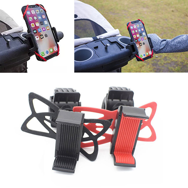 Adjustable Mobile Phone Stents Pram Accessories Cellphone Holder Plastic Stander Cart Baby Stroller Children Answer The Phone