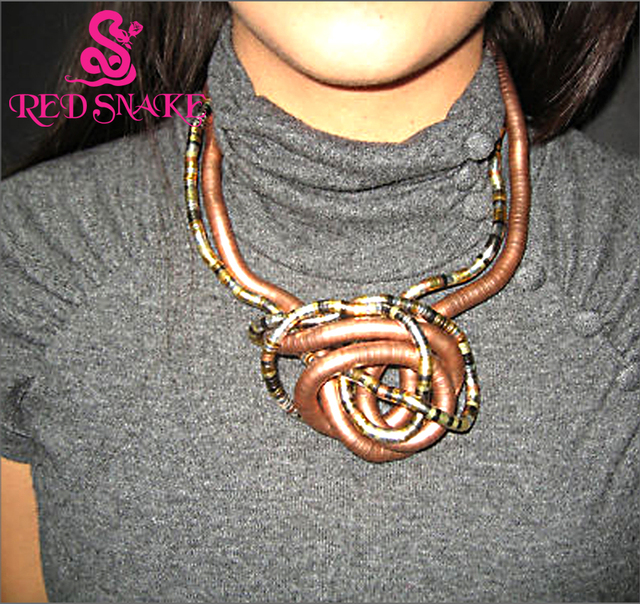 RED SNAKE Bendy Necklace Length 900mm*5mm / 6mm / 8mm Bendable Snake Chain Flexible Twist Jewelry Necklaces No minimum order