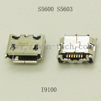 10pcs-100pcs/pack Cell Phone Tail Charging Replacement Micro USB 2.0 Connector Socket Used For Samsung I9100