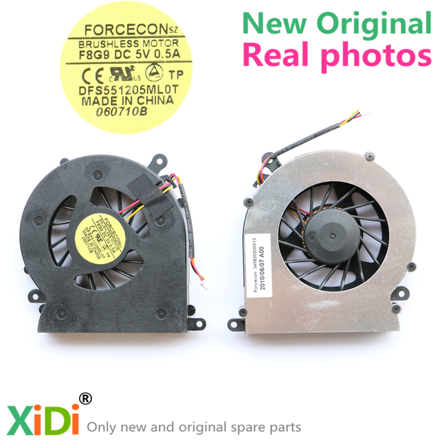 NEW FORCECON DFS551205ML0T F8G9 DC5V 0.5A CPU FAN FOR SOTEC R501A7B ONKYO R505A5 Akoya E5411 CPU COOLING FAN