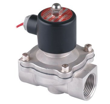 """Free Shipping 5PCS 1"""" 25mm Stainless Steel Solenoid Valve Normally Closed 2Way VITON Oil Acid AC220V"""