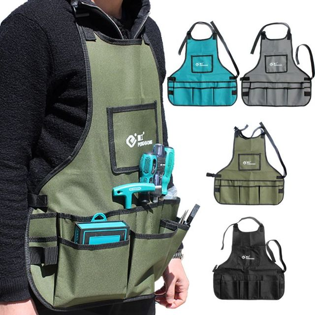Electrician Hardware Toolkit Apron Waterproof Oxford Cloth Multi Organize Pockets Storage Pouch Portable Worker Use Tool