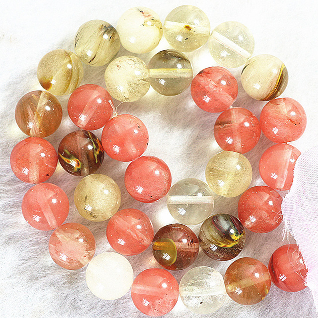 2 type faceted/round multicolor watermelon faux tourmaline stone crystal 4 6 8 10 12 14mm diy loose beads 15inch B491