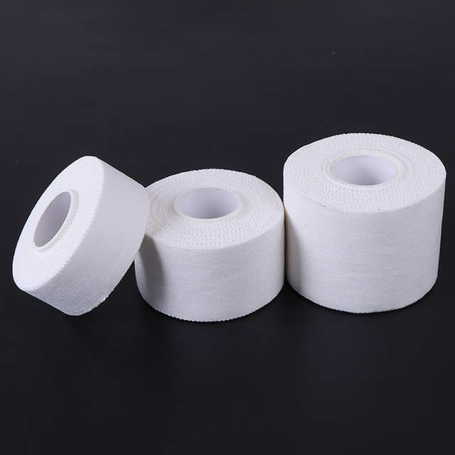 10M 50/38/25mm Cotton White Medical Premium Adhesive Tape Sport Binding Physio Muscle Elastic Bandage Strain Injury Support