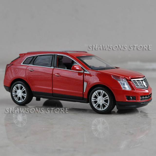 DIECAST METAL 1:32 MODEL CAR TOYS SOUND & LIGHT PULL BACK CADILLAC SRX REPLICA