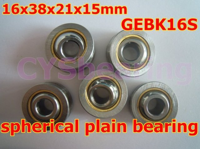 GEBK16S PB-16 radial spherical plain bearing with self-lubrication for 16mm shaft