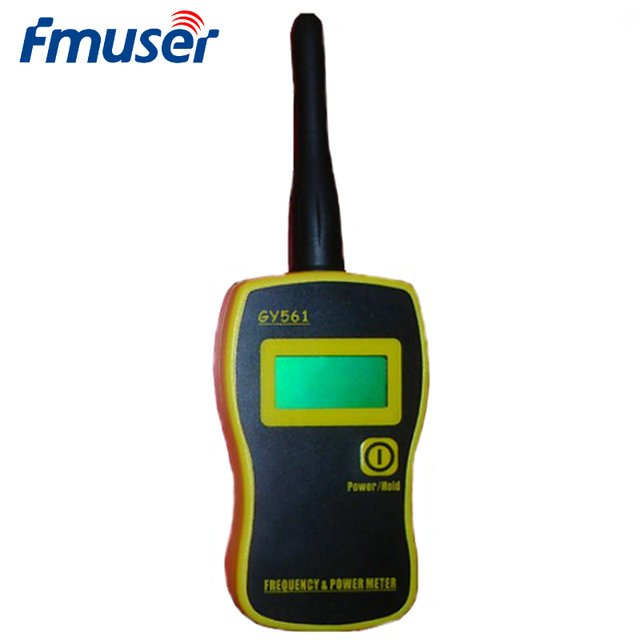 FMUSER Genuine New Portable Handheld GY561 Frequency Counter Power Meter 1MHz-2400MHz 0.1W-50W For 2 Way Radio