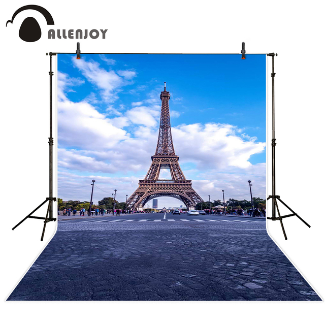Allenjoy backgrounds for photo studio Paris avenue Eiffel Tower backdrop Backgrounds filming excluding bracket
