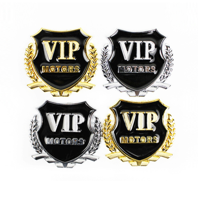 Car-Styling VIP Car Metal Stickers For BMW Audi Opel VW KIA Hyundai Peugeot Ford Nissan Mazda Chevrolet Benz Accessories