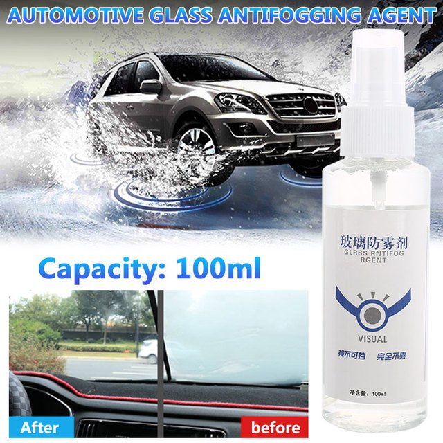 Vehemo 100ml Auto Anti-Fogging Agent Interior Anti-Fog Coating Car Anti-Fog Bottled Universal Automotive Glass Car