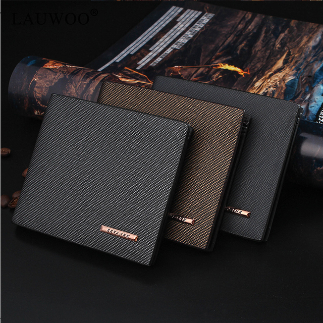 LAUWOO 2019 New Men Wallets Fresh Fishon Designer's Purse Men Brand striped Card purse Mens Wallet Wholesale price