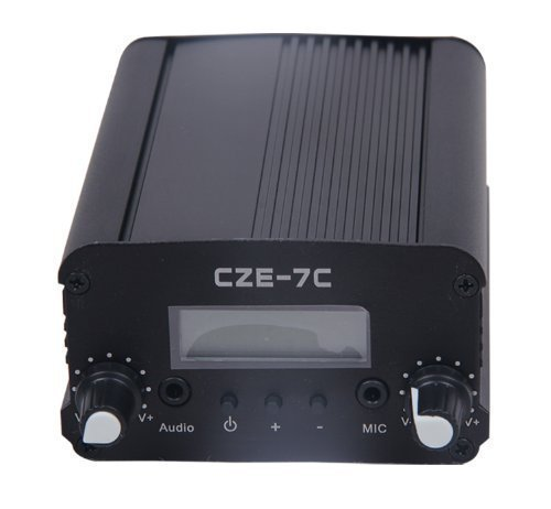 cheap  7W 76-108mhz  FM stereo PLL broadcast transmitter hot sale wholesale silver