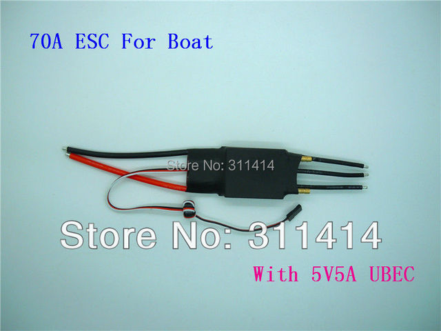 2pcs/lot 2-7S Lipo 60A 70A ESC 5V/5A UBEC Brushless Speed Controller ESC For RC Boat Ship Water Cool Promotion