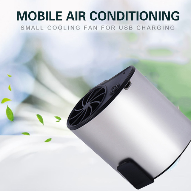 2019 Drop Shpping USB Waist Fan USB Rechargeable Fan Mini Portable Travel Mini Air Conditioner for Air Cooling