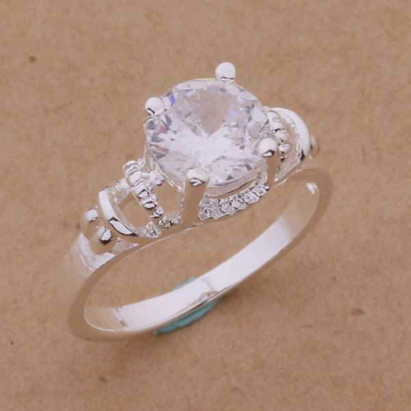 Top quality silver plated jewelry wedding rings beautiful gift for  woman factory wholesale