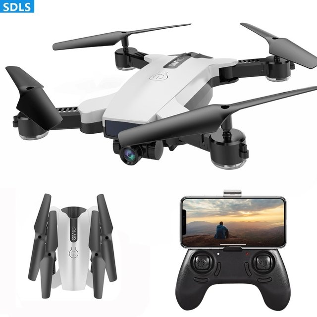 Foldable 2.4G RC Drone Quadcopters 720P Optical WIFI FPV Camera Gesture Selfie Auto Follow Me Set Height Hover Headless Mode