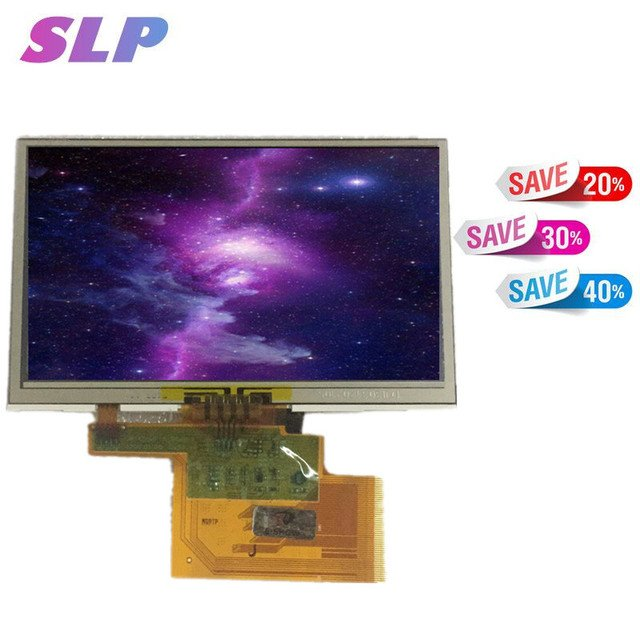 Skylarpu new 4.3' inch LMS430HF19 LCD screen touch panel for TomTom one XL N14644 GPS LCD display Screen Free shipping