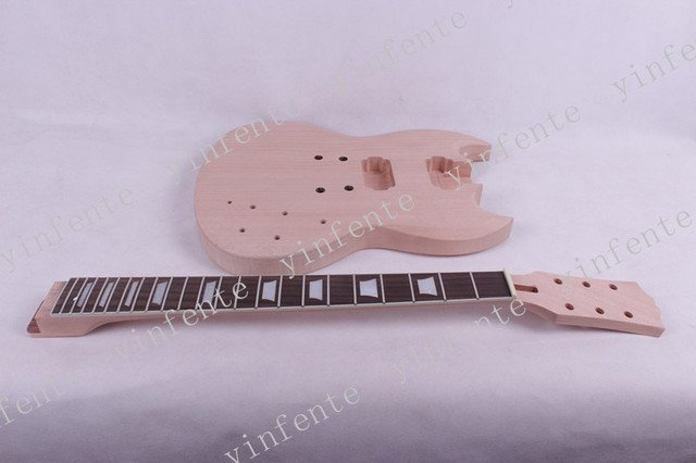 one set electric guitar neck and body  high quality mahogany made with rosewood fingerboard