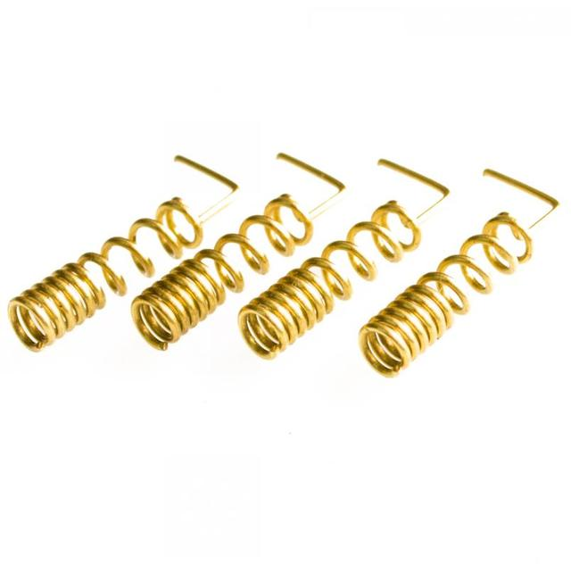 100pcs/lot GSM antenna spring 900/1800MHZ copper spiral coil winding antenna GSM antenna motherboard soldering; 0.8 x 5 x 24 mm