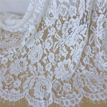 bridal lace fabric by the yard French embroidered floral lace fabric Vintage Ivory bridal Lace Fabric
