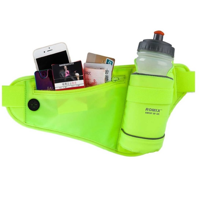 New Unisex Multifunction Jogging Waist Bag with Water Bottle Holder Hydration Belt Pack for Outdoor Sport Running Cycling