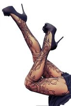 Sexy Charming Floral Pattern Fishnet Pantyhose Hosiery Tights Women yx79594 Free Shipping