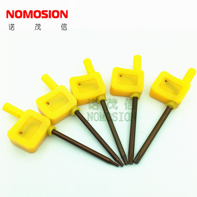 CNC TOOLS Wrench  T8  Torx keys 100PCS/bag  orange Yellow Flag Torx key T8