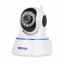 Escam QF002 IP Camera HD 720P WIFI Night Vision P2P 1MP Indoor Infrared Security Surveillance CCTV Mini  Wireless Camera