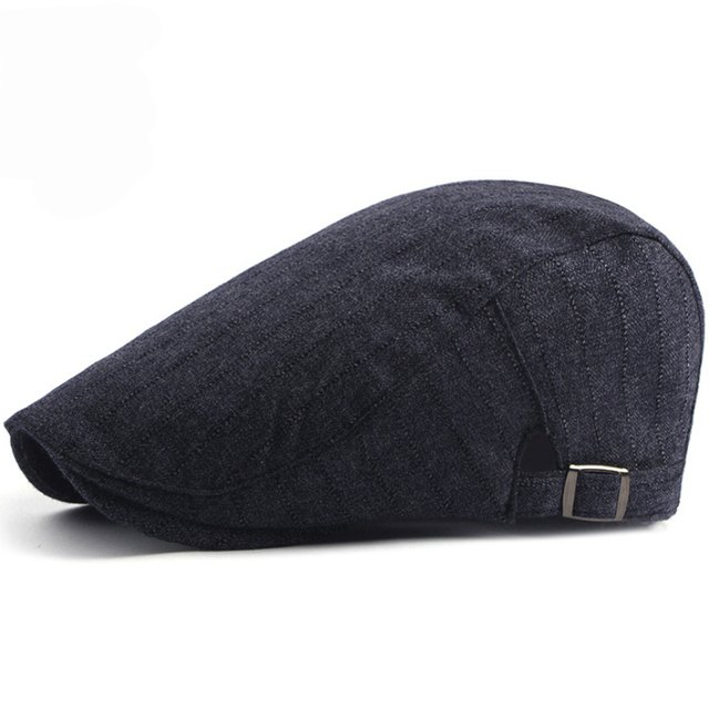 HT1576 2018 New Spring Berets Fashion Cotton Hats for Men Women Unisex Advanced Gastby Duckbill Flat Caps Adjustable Beret Caps
