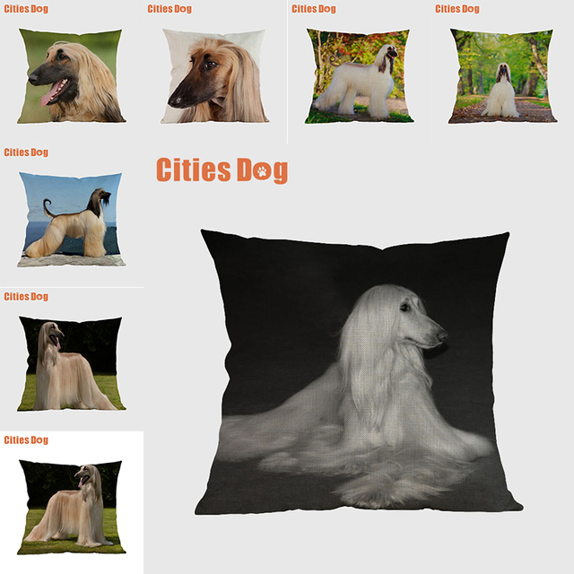 Afghan Hound dog pillow covers decorative cushion covers for sofa Pillows Animal dogs pillowcase cushions cover home decor
